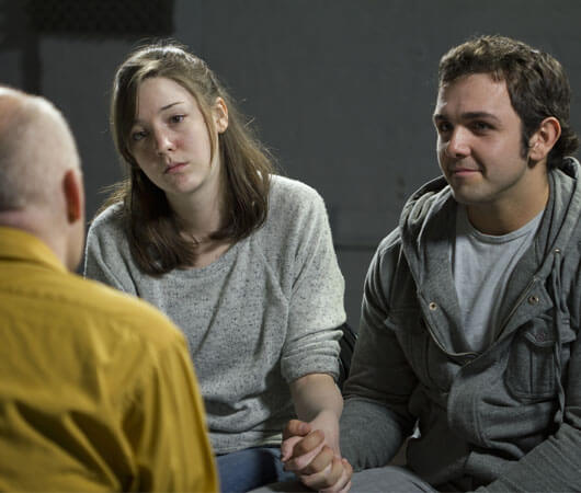 young couple in theraphy